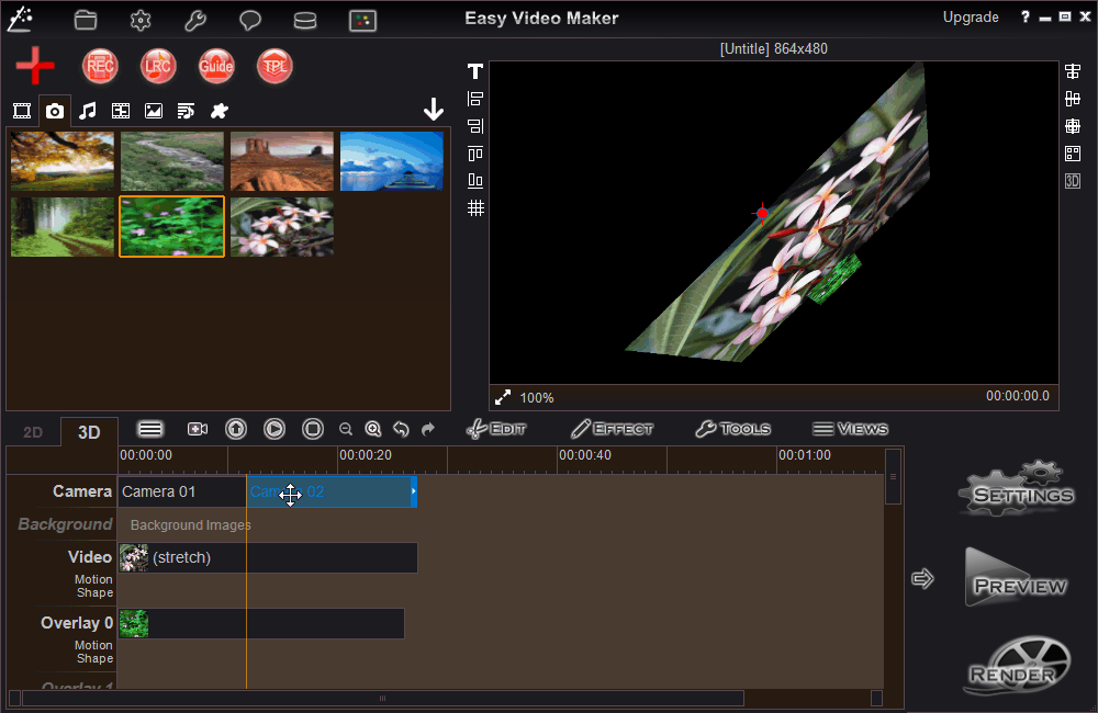 Easy Video Maker, easy to make high quality video and movie.