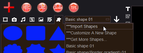 how to import the downloaded video shapes