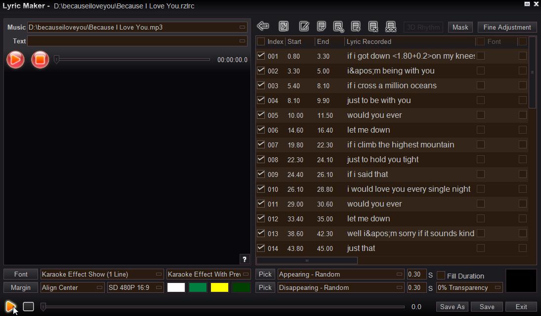 Easy Video Maker, easy to make Lyrics video.