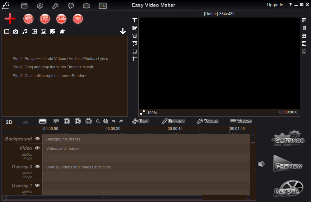 Easy Video Maker-Easy to make a Lyrics or Karaoke video.